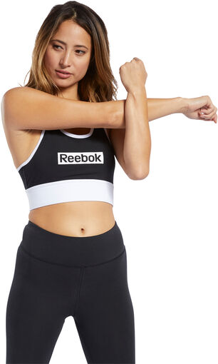 Reebok - Sujetador TE Linear Logo Bralette - Mujer - Sujetadores deportivos - L