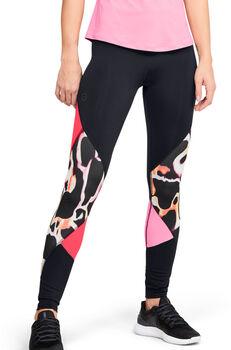 Under Armour Leggings UA RUSH™ Print Color Block para mujer Negro