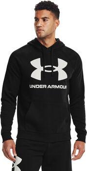 Under Armour Sudadera con capucha de tejido Fleece UA Rival Big Logo hombre Negro