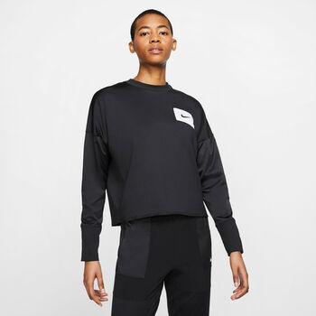 Nike Camiseta m/lNK MIDLAYER CREW REBEL mujer Negro