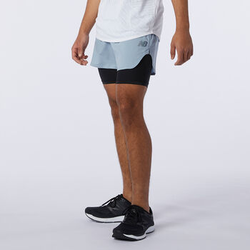 New Balance Shorts Q Speed Fuel 2in1 hombre Beige