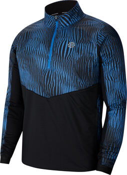 Nike Sudadera media cremallera Element Men's 1/2-Zip Run hombre Azul