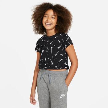 Camiseta manga corta Nike Sportswear Swooshfetti para niña niño Negro