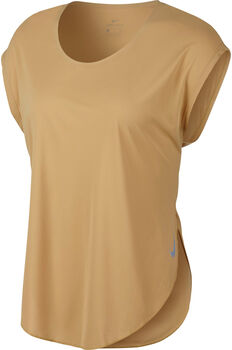 Nike Camiseta m/cNK CITY SLEEK TOP SS mujer Amarillo