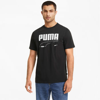 Puma Camiseta manga corta Rebel  hombre Negro