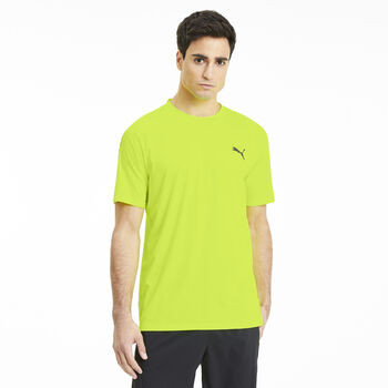 Puma Camiseta Manga Corta Power Thermo R+  hombre Amarillo