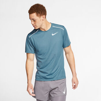 Nike Camiseta m/cNK BRTHE RISE 365 SS hombre Azul