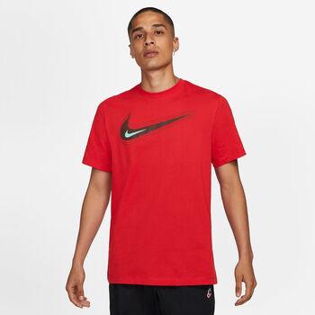 Nike Camiseta Manga Corta Swoosh hombre Rojo