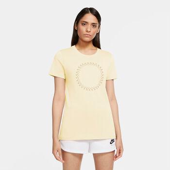 Nike Camiseta manga corta Icon Clash mujer Beige
