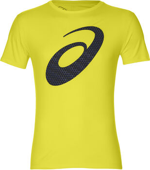 ASICS Camiseta Silver Graphic SS Top #3 hombre Amarillo