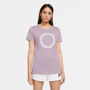 Nike Camiseta Manga Corta Icon Clash mujer Púrpura