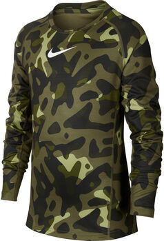 Nike Camiseta m/l B NP THERMA LS CREW AOP niño