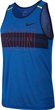 Nike Camiseta s/m M NK WILD RUN TANK MESH hombre Azul