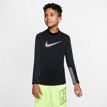 Nike Camiseta m/l B NP LS THERMA MOCK GFX niño