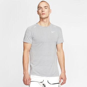 Nike Camiseta Manga Corta TechKnit Ultra Runn hombre Gris