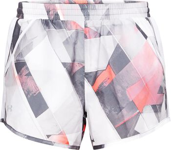 Under Armour Fly by Printed Short Mujer Blanco