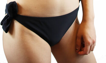 Firefly solid slip lazo bikini mujer Negro