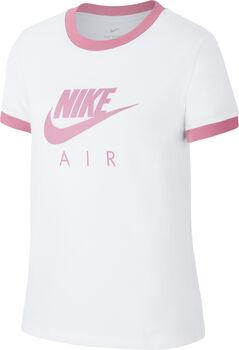 Nike Camiseta m/c G NSW TEE AIR LOGO RINGER niña Blanco