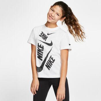 Nike Camiseta Manga Corta G NSW TEE DPTL SWOOSH niña Blanco