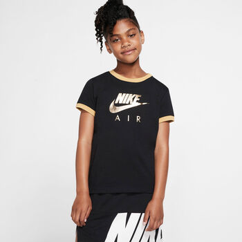 Camiseta m/c G NSW TEE NIKE AIR LOGO RINGER niña Negro