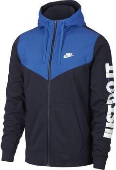 Nike nsw hbr+ hoodie fz flc hombre Azul