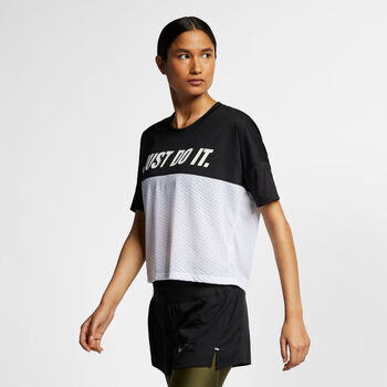 Nike TAILWIND TOP SS SD mujer Negro