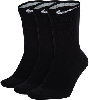 Nike Calcetines Perfect Lightweight Crew Training (3 Pares) Negro