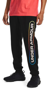 Under Armour Pantalón de chándal Rival Fleece Lockertag hombre Negro