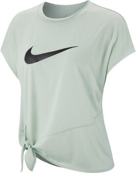Nike Camiseta m/cNK DRY SIDE TIE SS TOP GRX mujer