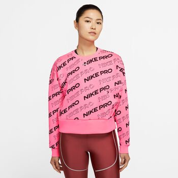 Nike Pro Sudadera fleece crew mujer Rosa