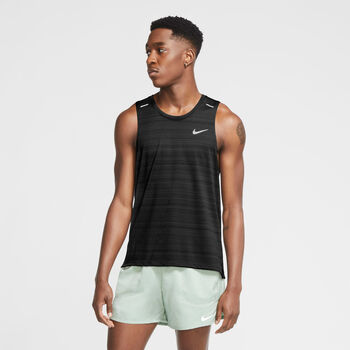 Nike Camiseta sin mangas Dri-FIT Miler hombre Negro