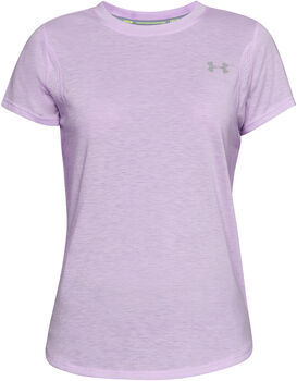 Under Armour Camiseta de manga corta UA Streaker 2.0 mujer Púrpura