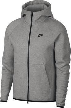 Nike m nsw tch flc hoodie fz hombre Gris