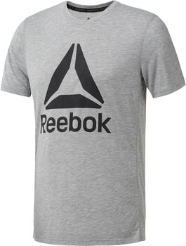 Reebok Workout Ready Supremium 2.0 Tee Big Logo Hombre Blanco