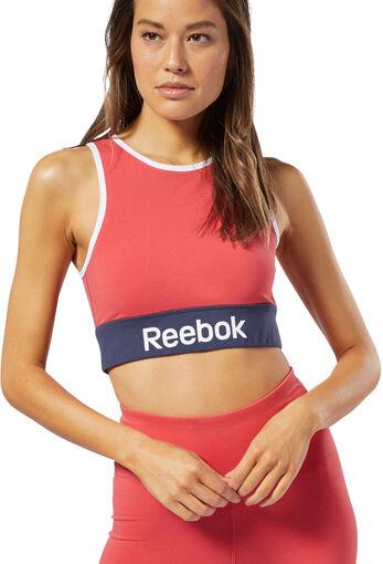 Reebok - Camiseta Linear Logo Cotton Bra - Mujer - Sujetadores deportivos - XS