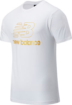 New Balance Camiseta Manga Corta Athletics Podium hombre Blanco