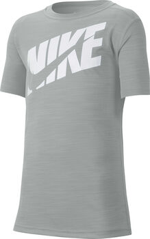 Nike Camiseta manga corta swoosh niño Gris