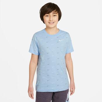 Nike Camiseta Manga Corta Swoosh niño Azul