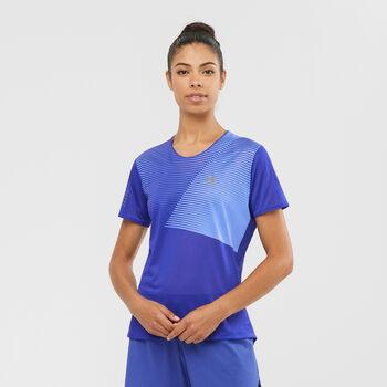 Salomon Camiseta de manga corta Sense Clematis Blue mujer