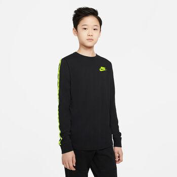 Camiseta Nike Sportswear manga larga niños Negro