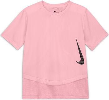 Nike Camiseta Manga Corta Breathe Instacool niña Rosa