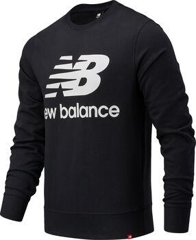 New Balance Sudadera Essentials Stacked Logo hombre Negro