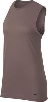 Nike camiseta de entrenamiento sin mangas  mujer Marrón