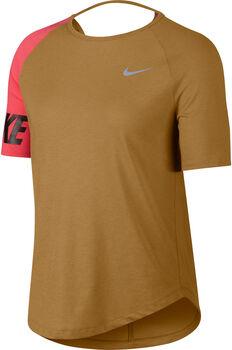 Nike W NK MILER TOP SS SD mujer Amarillo
