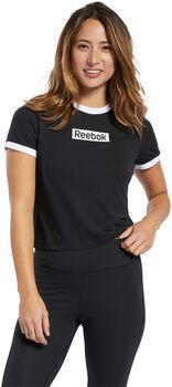 Reebok Camiseta manga corta TE Linear Logo Slim  mujer