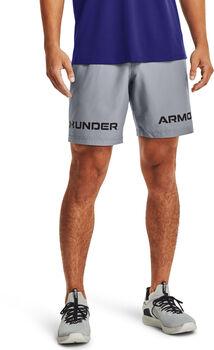 Under Armour Shorts Woven Graphic Wordmark hombre Gris