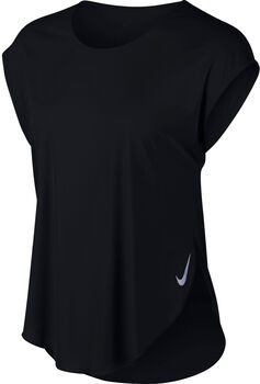 Nike Camiseta m/cNK CITY SLEEK TOP SS mujer Negro