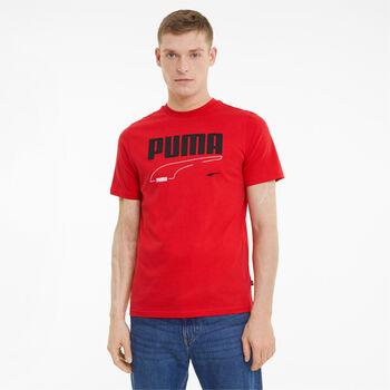 Puma Camiseta manga corta Rebel  hombre Rojo