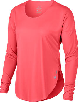 Nike Camiseta m/lNK CITY SLEEK TOP LS mujer Naranja