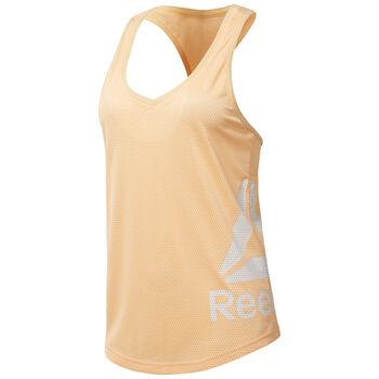 Reebok Workout Ready Mesh Tank Mujer Naranja